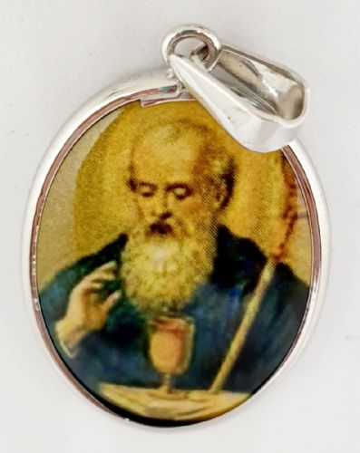 Saint Benedict 25mm Oval Pendant